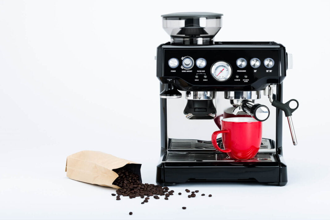 Black coffee cage machine
