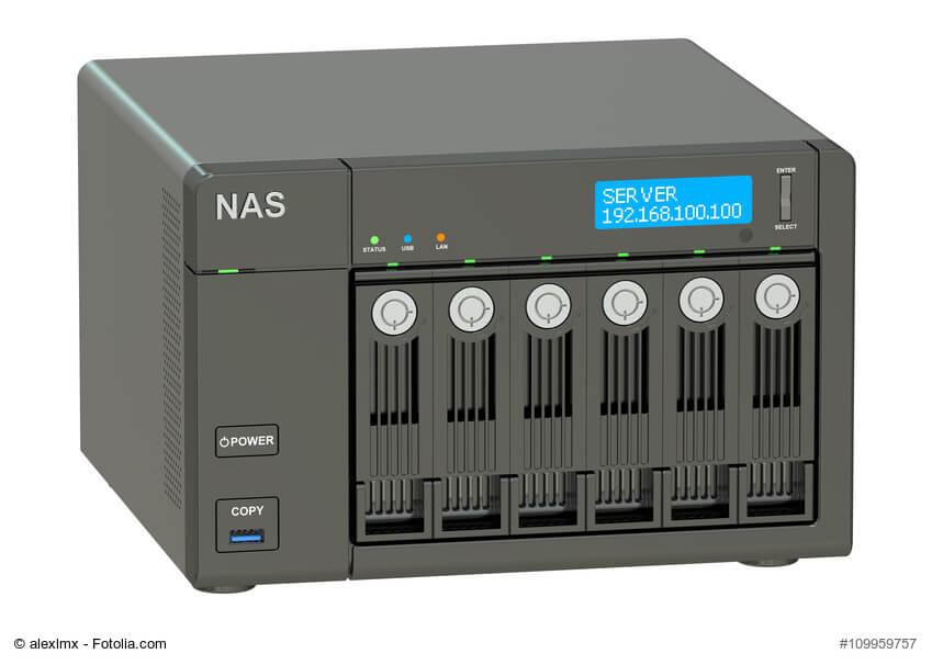 NAS Server mit 6 Festplatten