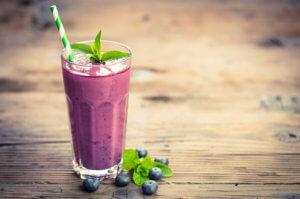 An ìomhaigheag airson Blueberry Shake