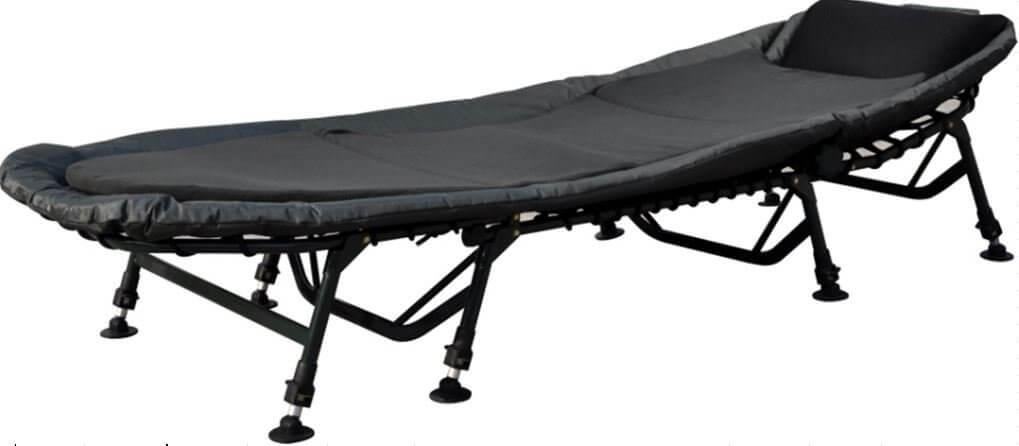 AGEM Angelliege Karpfenliege 8 Bein XXL Campingbett Karpfen Gartenliege 200kg Carp Bedchair Liege Camping Bed